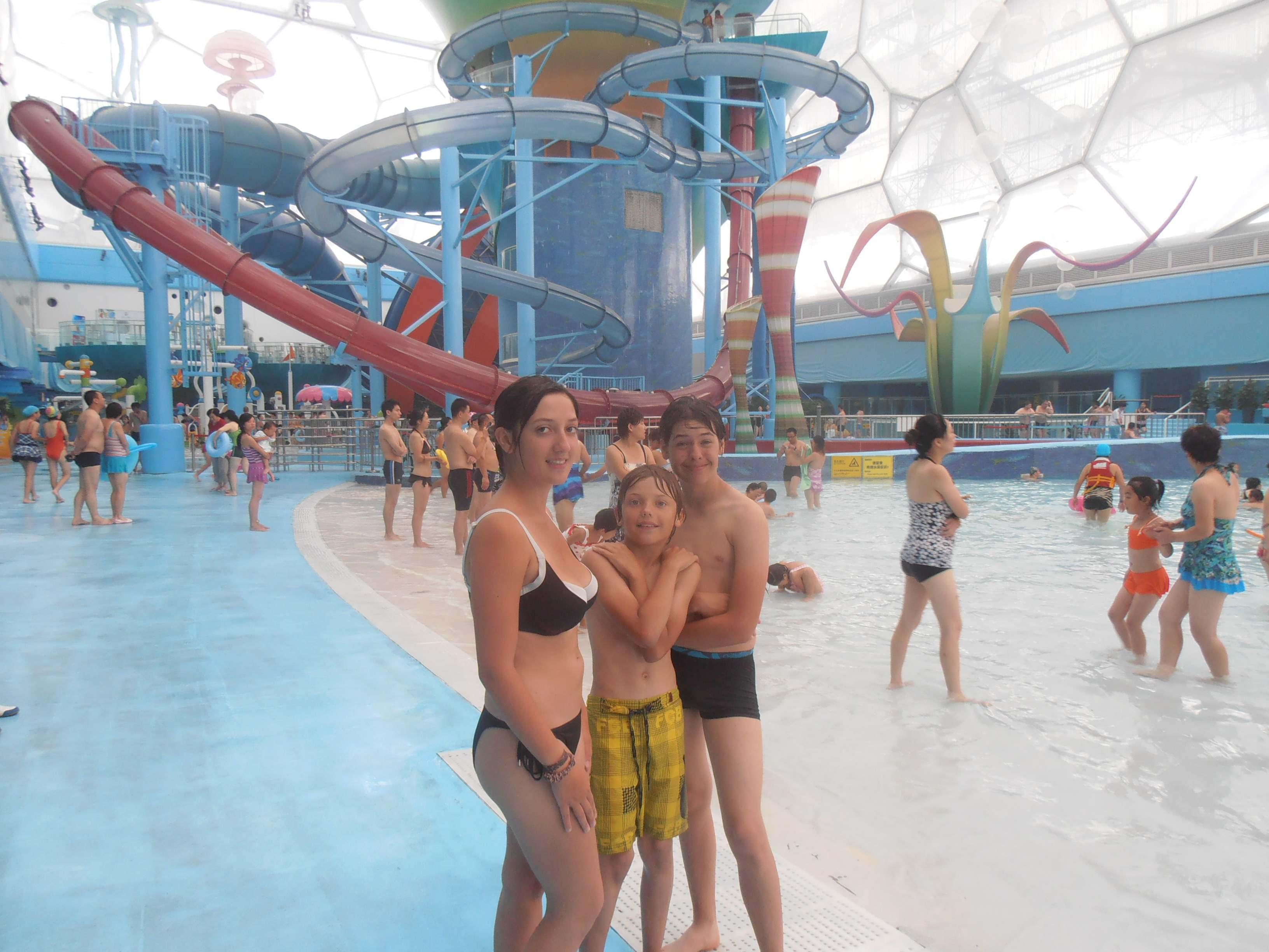 Détente : Tous à la piscine olympique de Pékin dite «le cube d'eau»