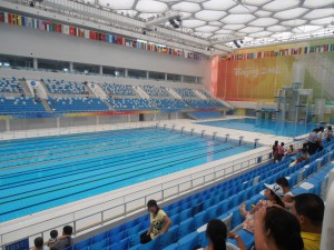 La piscine Olympique de pekin